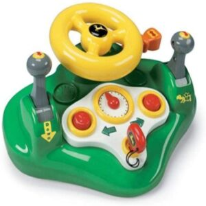 TOMY John Deere Busy Driver Car Simulator & Tractor Toy with Steering Wheel