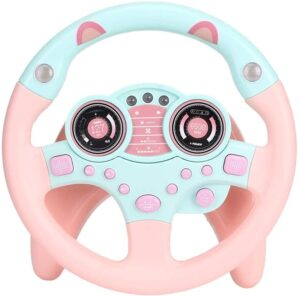 Yinuoday Steering Wheel Toy with Lights Music